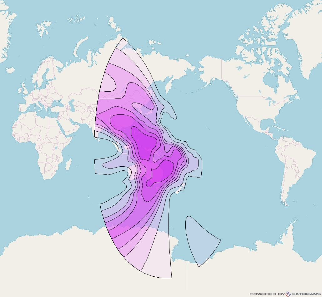 Intelsat 1R at 157° E downlink C-band Asia-Australia V beam coverage map