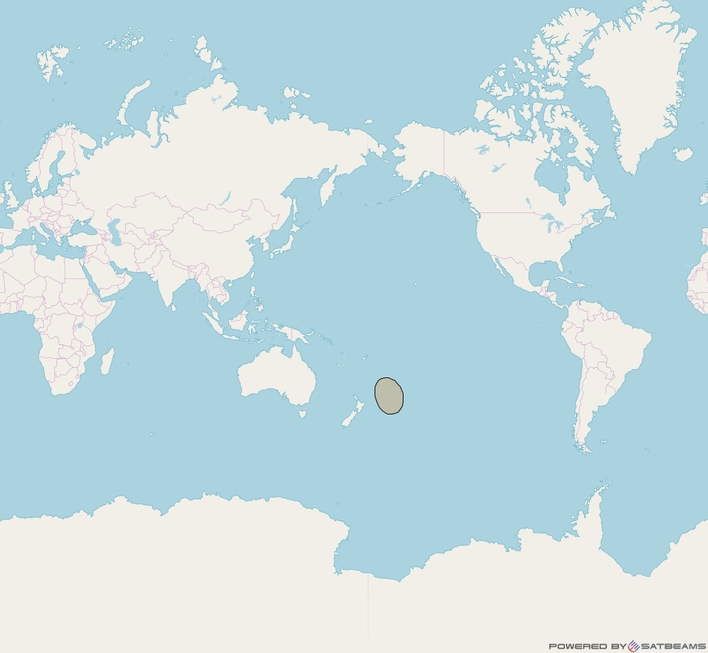 Inmarsat-5F3 at 180° E downlink Ka-band S50DL Spot beam coverage map