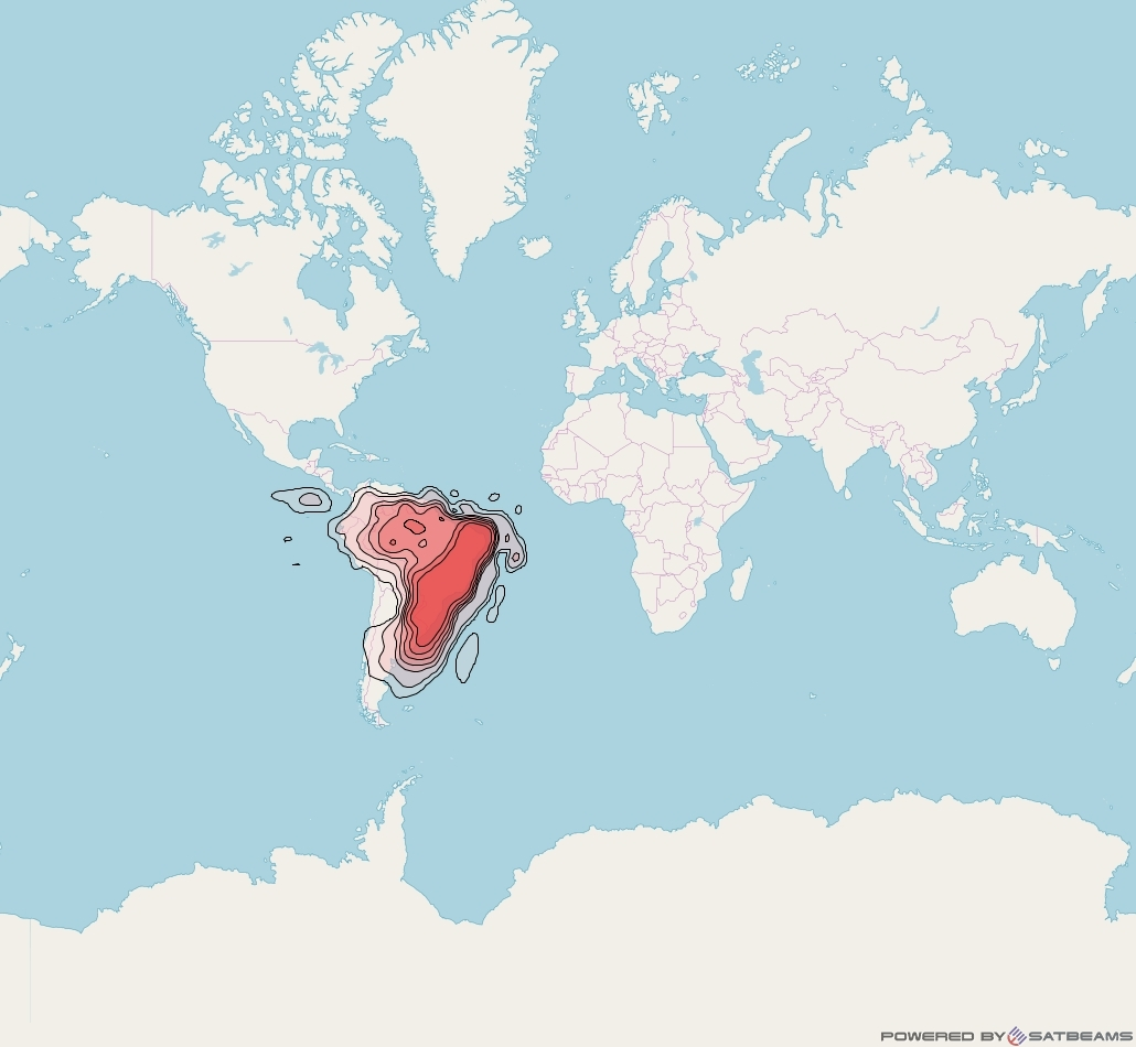 Intelsat 32e at 43° W downlink Ku-band Brazil beam coverage map