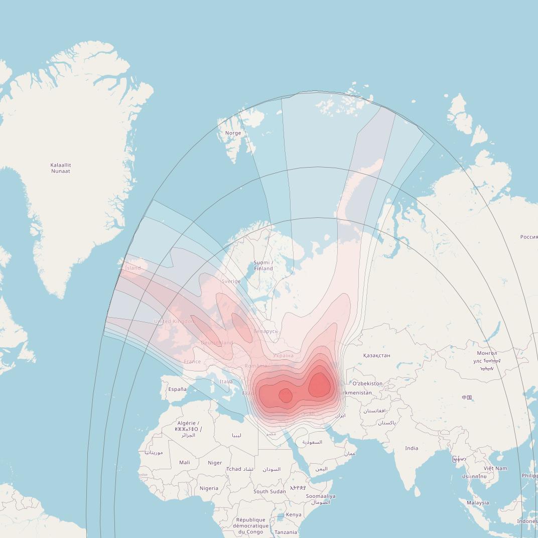 SatBeams - Satellite Coverage Maps - Sat Footprint Azerspace