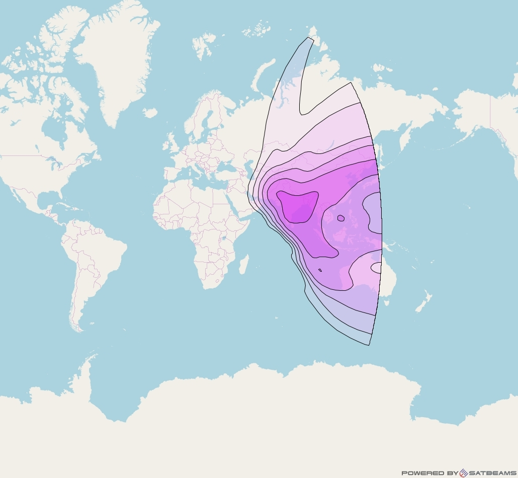 Intelsat 39 at 62° E downlink C-band East Hemi beam coverage map