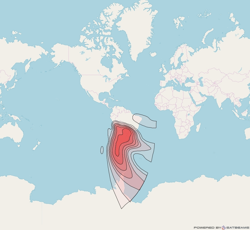 Intelsat 30 at 95° W downlink Ku-band R4R beam coverage map